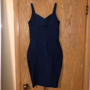 Navy Blue Bodycon Bandage Akira Dress